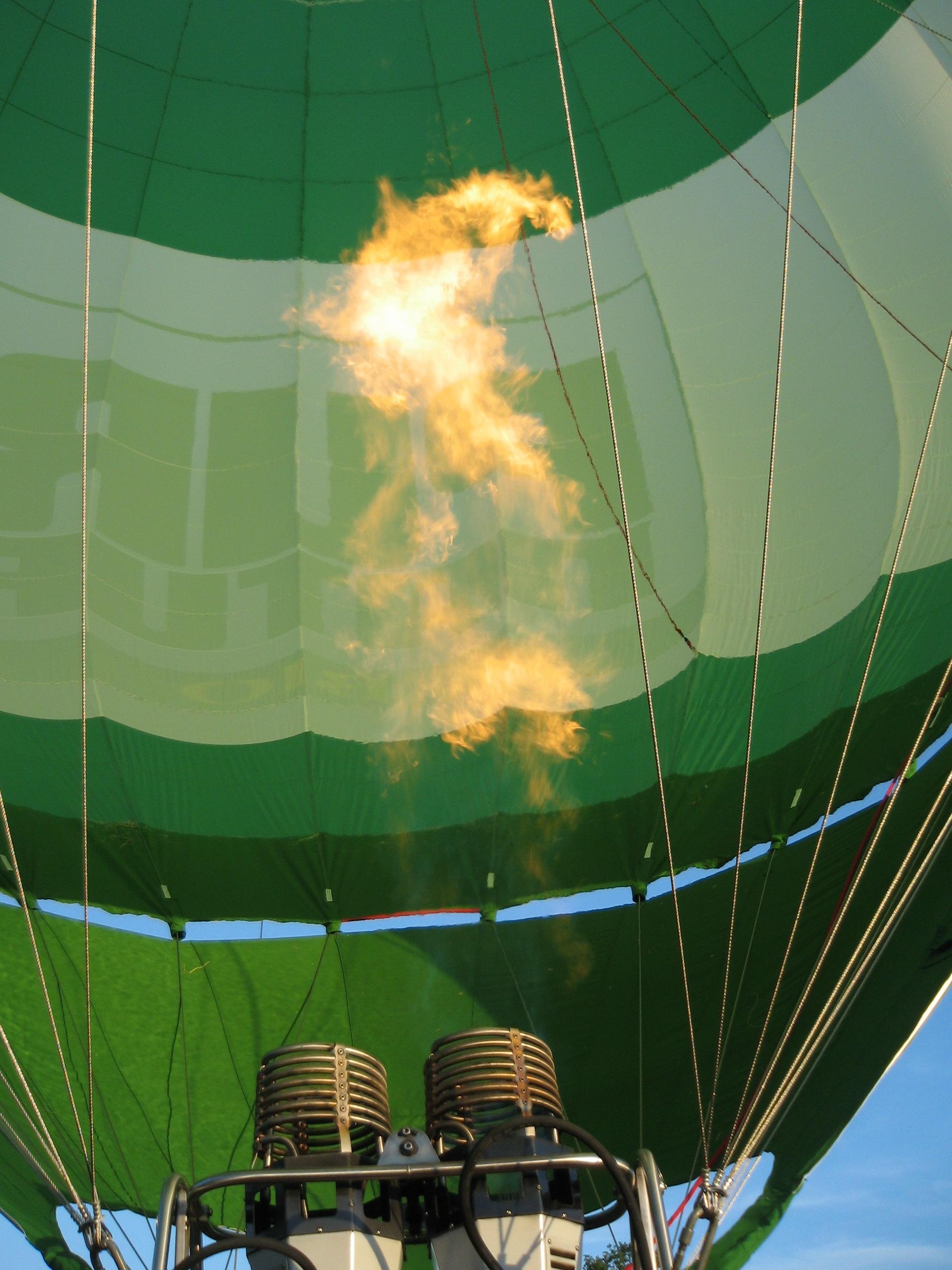 Ballonvaart vlam brander